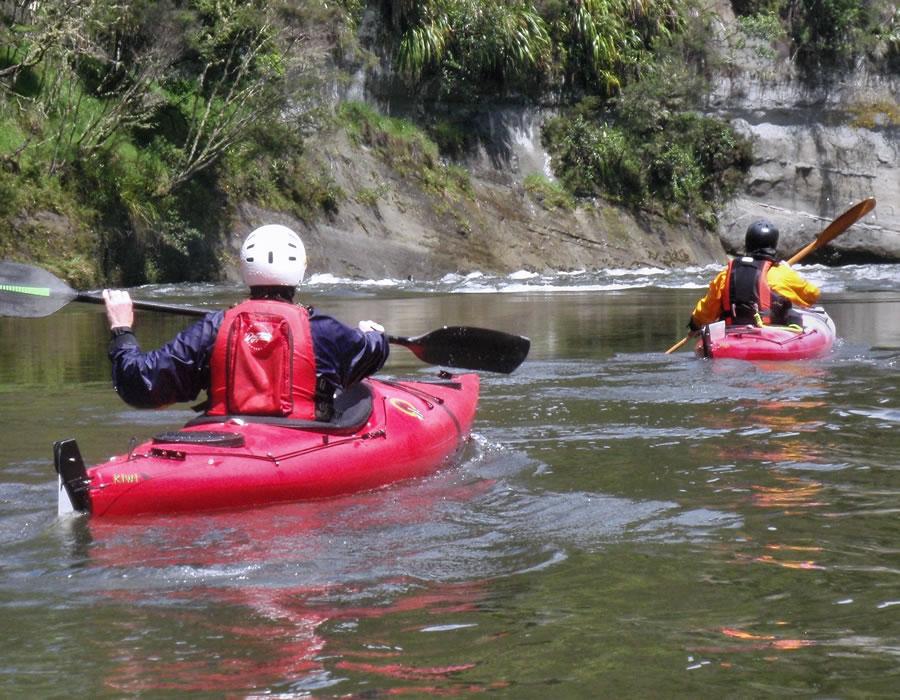 Kiwi Excel Recreation Kayak - Red/White & Orange/White mix $910 each